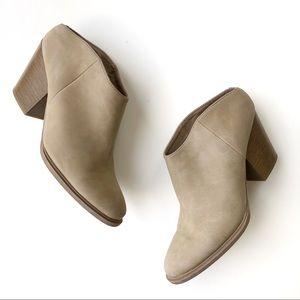 Brash Block Heel Mules Tan Beige 8.5
